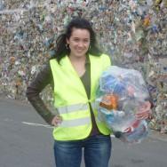 Afkicken van plastic